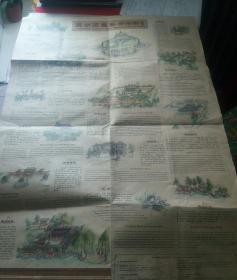 北京名胜手绘图,圆明园盛景