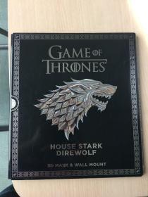 订购权力的游戏3d折纸书game of throne house stark direwolf
