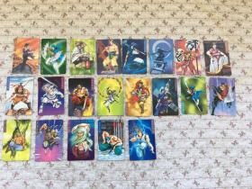 统一小浣熊《水浒英雄传》卡片.21张合售不重复、品佳