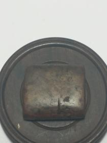 石39 清中期鸡血石商铺花押椭圆印一枚