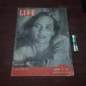 原版英文杂志:美国生活周刊(1947年1月6)(民国时期8开老期刊)(LIFE)