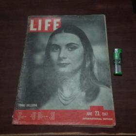 原版英文杂志:美国生活周刊(1947年6月23)(民国时期8开老期刊)(LIFE)