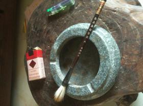 天然石头玉石特大号老旧笔洗
