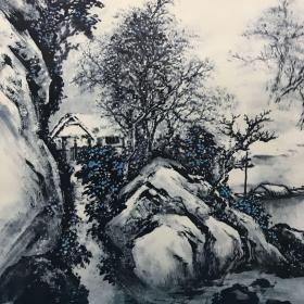 溪山雪景Xishan snow scene