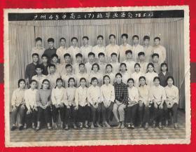 1978年现广州市育才中学【广州48中高二(7)班毕业留念合影照片】一张。品如图。