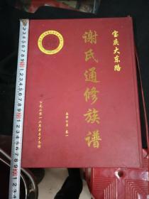 精装版谢氏族谱一本9