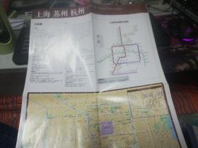上海苏州杭州旅游示意图
