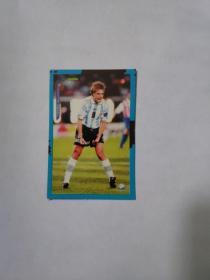 1998年法国世界杯球星卡  阿根廷国家队 巴蒂斯图塔