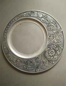 GZ1094古玩杂项镀银水果盘精美实用