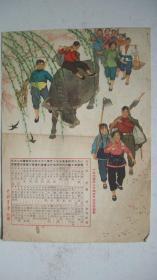 1963年中国青年社印赠《1964年年历》(年历画)