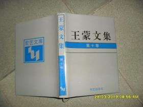 王蒙文集 第十卷:诗歌(9品大32开精装1993年1版1印4000册4000页末附年表及作品目录索引)44502
