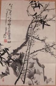 著名国画家美院教授韩文来国画原作保真