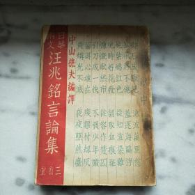 汪兆铭言论集 毛边本