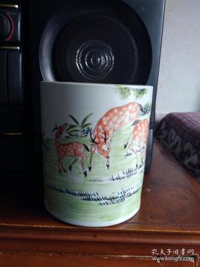江西瓷业公司大笔筒.