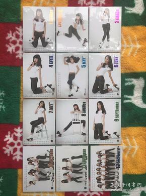 原版 少女时代 第2季 闪字双面卡Gee076~087 全套12张 此卡为双面卡,图一为A面,图二为B面