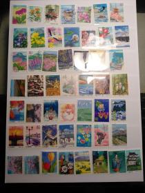 日邮·日本纯纪特信销票500种不同合售(为避免有品相不佳者,会多给20种,不含小普票保证品相,价含大陆邮挂,图片是最新配出去的多套混合样例,质量都能保证这样,供参考)