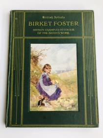 英文原版 Birket Foster 伯基特•福斯特 16幅作品