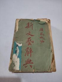 《新文艺辞典》顾凤城 著 民国25年八版 上海大光书局发行(品相不好)