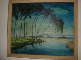 海边椰林图
