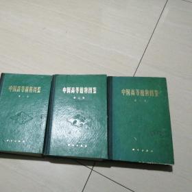 中国高等植物图鉴,精装 1-3 三本合售