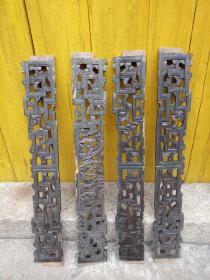 清末潮州木雕,四条,人物雕刻生动
