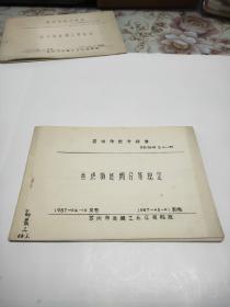 丝织物坯绸分等规定(油印本)