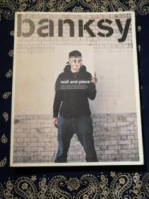 英国涂鸦教父班克西Banksy官方作品集 :《Wall and Piece》
