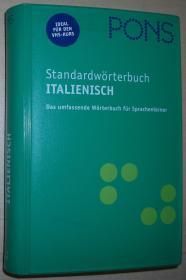 德语原版书 PONS Standardwörterbuch Italienisch: Italienisch-Deutsch /Deutsch-Italienisch (Italienisch)