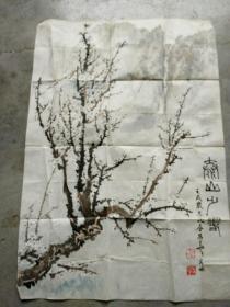 湖北夏昌华国画作品; 泰山之春