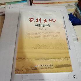 正版现货  农村土地利用研究