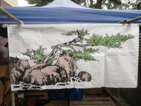 著名画家 林凡 画梅花 尺寸13X68厘米