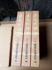 潮汕族谱,萧氏族谱,全三册,巨厚本