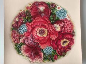 皮雕装饰画(花图案)