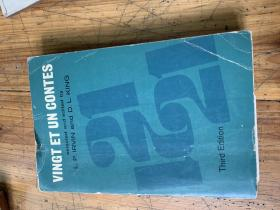 3242:《vingt et un contes 》THIrd edition,有英文签名