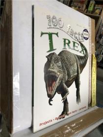大16开彩印英文恐龙画册 100 facts TREX 共48页 英文书 MILES KELLY出版