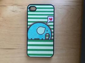 iPhone 4 手機殼 塑料材質  (大象)