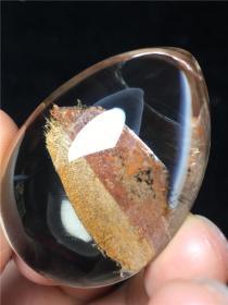 纯天然水晶吊坠,非常稀有难得钛晶吊坠《阴阳双色》温润如玉无优化无高温原汁原味,至纯至净非常稀有罕见,难得一件,收藏之珍品难得一见