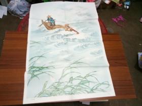 六年制小学课本语文第六册教学图片---江上渔者