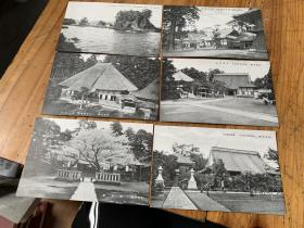 3959:民国日本明信片《佐渡名胜》6张,均是佐渡建筑老照片