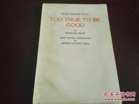 《TOO TRUE TO BE GOOD》(欧美名剧选 矛盾)