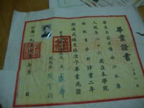 华东纺织工学院1954年<< 毕业证书>>品图自定