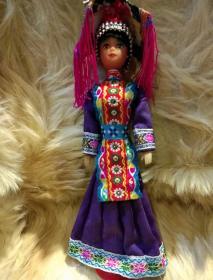花腰傣族造型工艺品木偶一个
