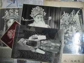 五六十年代戏曲粤曲名人【文武生颜铁英】黑白老照片5张