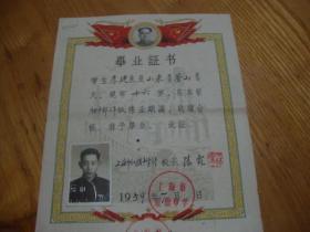 上海市红旗中学<<毕业证书>>品好