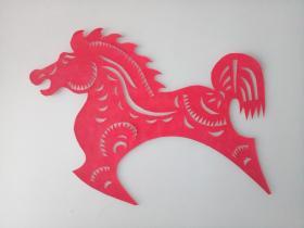 马 传统手工剪纸 民间艺术 未托裱 (年代:2000年)