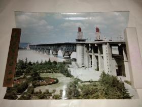 南京长江大桥照片一张+一张图纸