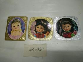 日历卡(中国娃娃)1978(3张)