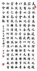 【保真】实力书法家董云忠楷书力作:李白《春夜宴桃李园序》