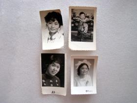老照片一堆卖,共4张----尺寸是2到4寸左右,。