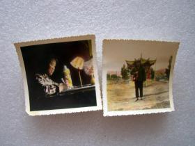 手工上彩老照片2张----尺寸是2到4寸左右.